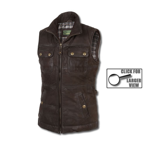 Ladies Leather Gilet...